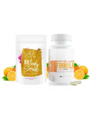 Anti-cellulit Formula Plus + & Örtte Natural body scrub /Super paket för anti cellulite